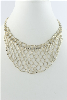 Crystal Necklace N2497 - Gold