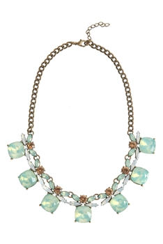 Crystal Gemstone Necklaces N2504 - Green