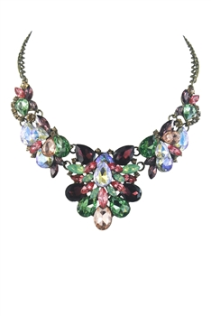Vintage Exquisite Rhinestone Necklace N2509