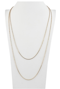 Crystal Rhinestone Cup Chain Long necklace N2538 - Gold