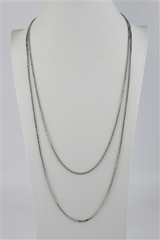 Crystal Rhinestone Cup Chain Long necklace N2538 - White