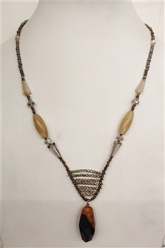Natural Stone Pendant Necklaces N2549