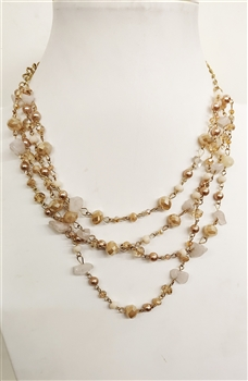 Multi-layer Crystal Short Necklace N2559