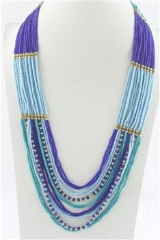 Multi-layer Crystal Beaded Long Necklaces N2565