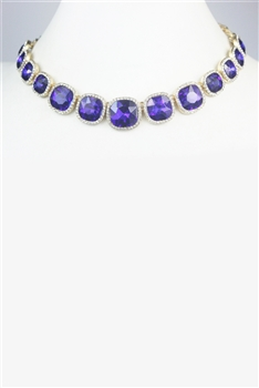 Crystal Gemstone Choker Necklace N2599