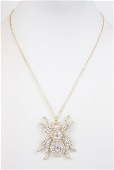Crystal Spider Pendant Necklace N2602