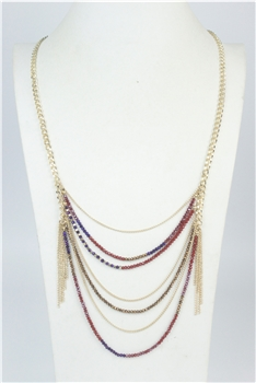 Multi-layer Crystal Beaded Necklaces N2661