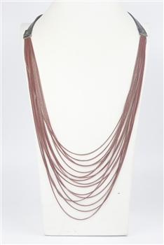 Multi-layer Long Necklace N2701 - Red