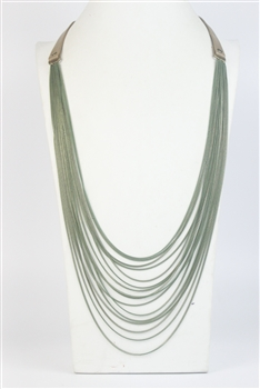 Multi-layer Long Necklace N2701 - Green
