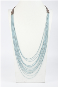 Multi-layer Long Necklace N2701 - Blue