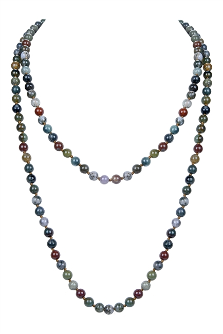 Stones Simple Style Long Beaded Necklaces N2740