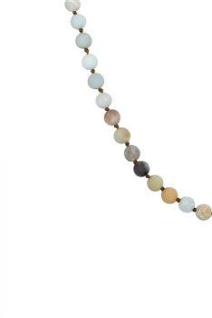 Amazonite Matte Natural Stones Simple Style Long Beaded Necklaces N2740 - Amazonite Matte