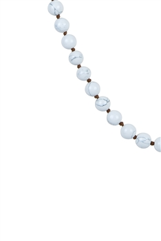 Howlite Stone Long Beaded Necklaces N2740 - Howlite