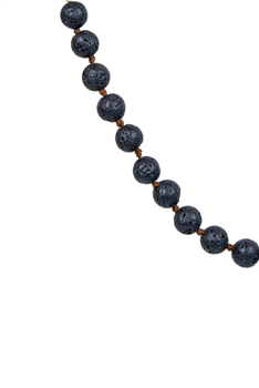 Newest Colorful Fashion Natural Stones Simple Style Long Beaded Necklaces N2740 - Lava