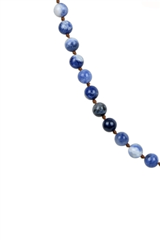 Newest Colorful Fashion Natural Stones Simple Style Long Beaded Necklaces N2740 - Sodo Lite