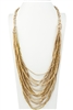 Crystal Necklace N2900 - Champagne