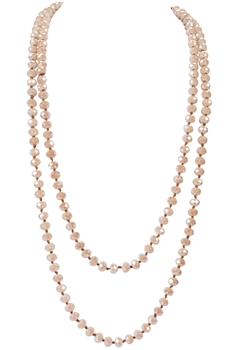 Simple Women Crystal Long Necklace N2903