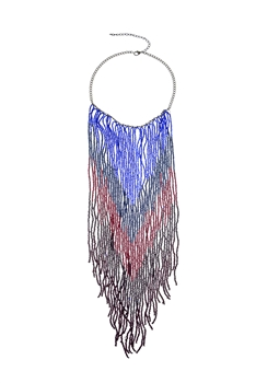 Bohemian Long Beaded Tassel Necklaces N2942 - Multi