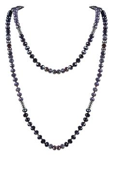 Latest Charm Crystal Beaded Long Necklaces N2947