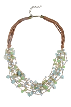 Hot Selling  Stone Beads Collar Necklaces N2952
