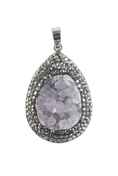 Fashion Natural Stone Crystal Pendants N3015
