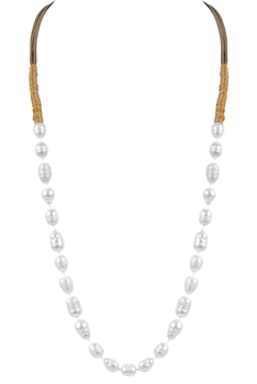 Simple White Freshwater Pearl Necklaces N3034