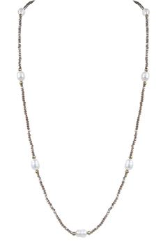Simple Design Crystal Pearl Necklaces N3039