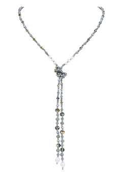 Fashion Crystal Beaded Long Necklaces N3044