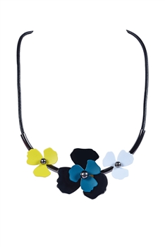 Fashion Simple Flower Statement Necklace Jewelry N3076