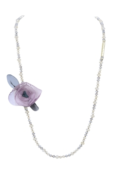 Flower Crystal Necklace N3134
