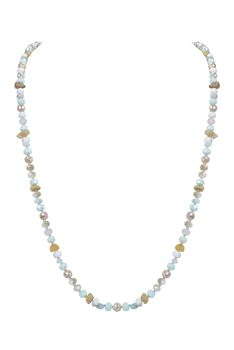 Fashion Women Crystal Necklace N3147 - Champagne