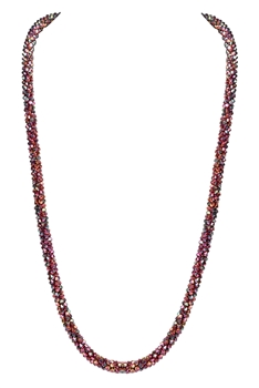 Strand Crystal Long Necklace N3163 - Copper