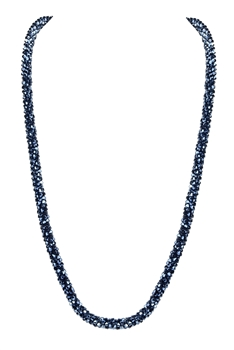Strand Crystal Long Necklace N3163 - Grey