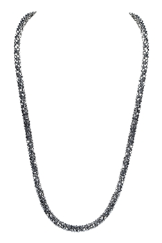 Strand Crystal Long Necklace N3163 - Silver
