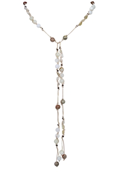 Fashion Stone Crystal Pendant Long Necklace N3172 - New Jade