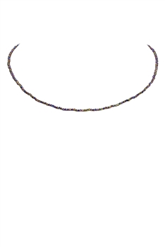 Fashion Tiny Hematite Stone Choker Necklace for Pendant N3179
