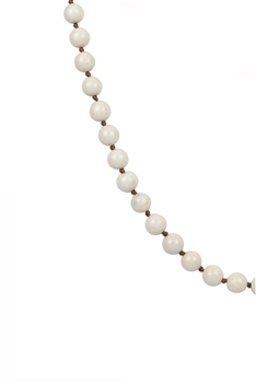 Round Stone Beaded Necklace N3180 - Fossile