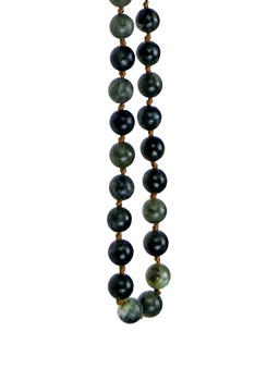 Round Stone Beaded Necklace N3180 - Tiwan Jade