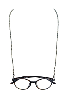 Fashion Lanyard Eyeglasses Crystal  Necklace N3188 - Gun Metal