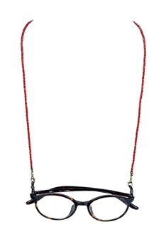 Fashion Lanyard Eyeglasses Crystal  Necklace N3188 - Red