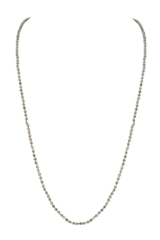 4MM Crystal Knotted Statement Necklace N3204 - NO.44