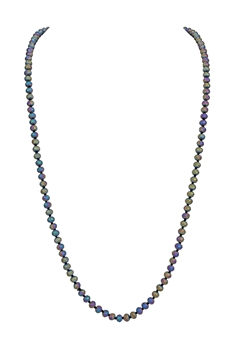 8MM Crystal Beads Statement Necklace N3206 - NO.32