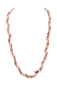Red Agate Gravels Pearl Beads Necklace N3212