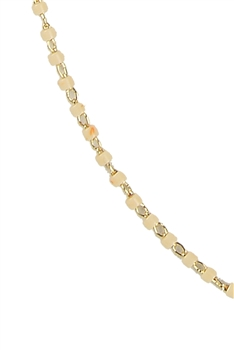 Seed Bead Metal Chain Necklace N3244-18 inches - Beige