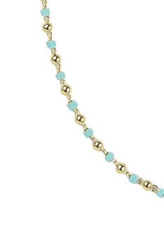 Sea Bead Chain Necklace N3245-30inches