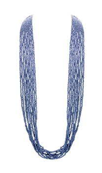 Seed Bead Metal Long Multi Layer Necklace N3260