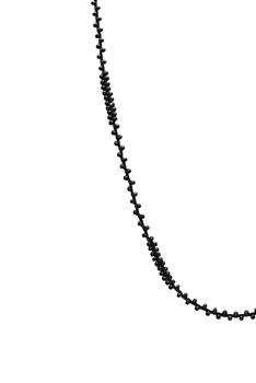 Long Seed Beads Necklace N3261 - Black