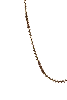 Long Seed Beads Necklace N3261 - Copper