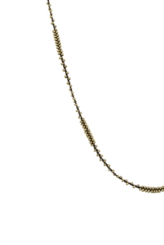 Long Seed Beads Necklace N3261 - Gold