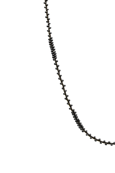 Long Seed Beads Necklace N3261 - Gun Metal